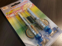 Set 2 LEDURI mari multicolore buton functii pe baterii pentr