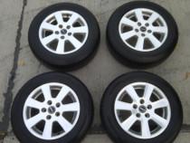 Jante Borbet+anvelope Dunlop 5x108 r15 J 6,5 ET 40, 195/65r1