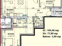 Apartament 3 camere zona campus aproape de penny