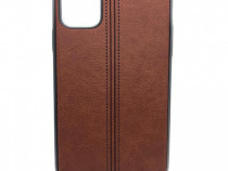 Husa telefon Silicon Apple iPhone 12 Mini 5.4 brown leather