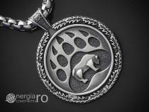 Medalion, Pandantiv Laba sau Gheara de urs INOX - cod PND236