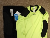 Set pantaloni + bluză portar fotbal, noi, cu etichetă