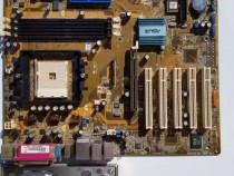 Placa de baza asus k8n, socket 754 + amd athlon 64 3000+ 512
