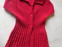 Jerseu tricotat pentru fetite de 7 - 8 ani