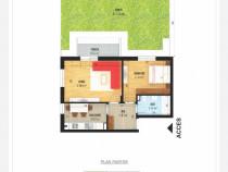 Apartament 2 camere+curte