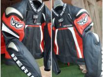 Geaca moto Berik Racing nouă (50) piele protecții Magnezium