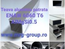 Teava aluminiu patrata 30x30x2 rectangulara alama cupru inox