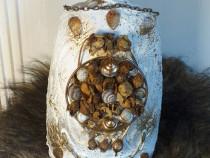 Vaza 3D decorativa unicat tip vintage