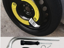 Kit Complet R16 Roata De Rezerva SLIM VW Golf Passat Audi A3