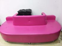 Canapea semiluna roz - folosita