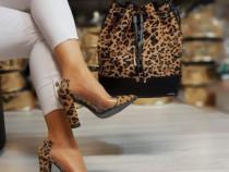 Set Giusepoe Zanotti animal print (geanta si pantofi)