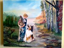 """Tabloul""""Prietenia adevarata se observa din priviri"""", pictura"""