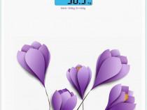 Cantar corporal pt persoane, 150 Kg, Flori Violete, NOU