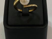 Inel cu perla si diamante_32573