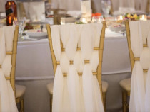 Esarfe funde scaune Chiavary nunta botez