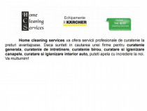Servicii profesionale de curatenie