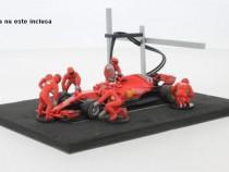 Macheta Pitstop crew Ferrari F1 rosu- IXO 1/43 Set Formula 1