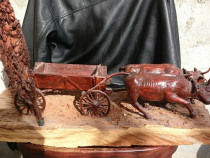 Sculptură carul cu boi