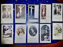 C82E-Semne carte religioase vechi litografice carton 1900.
