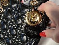 Genti Dior mini,logo metalic auriu, import Franta