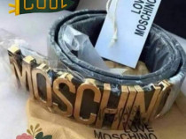 Curele Moschino/Italia,logo metalic auriu