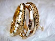 Bratara dama gold - set