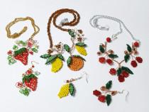Seturi fructe din margele, lucrate manual, unicate