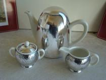 Set Cafea 3 Piese Portelan / Argint – WMF HUTSCHENREUTHER