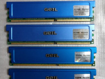 Memorie RAM 512MB DDR1 400MHz Geil cu radiator - desktop