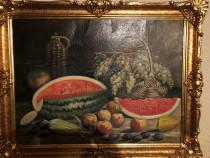 Tablou pictura pe carton - autor p. popescu 1969