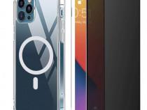 Husa MagSafe + Folie Sticla - Iphone 12 /MINI /PRO /PRO MAX