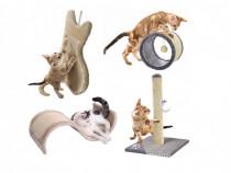 Ansamblu joaca pisici,suport turn sisal ascutit ghearele,nou
