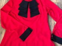 Bluza rosie elegantă, mărimea M