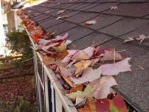 Curatare jgheaburi si burlane infundate de frunze si altele