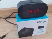 Radio cu ceas Qilive EVO cu 10 posturi presetate si alarma