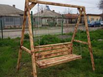 Balansoar de grădină, 205 x 130 x 210 cm, lemn de pin tratat