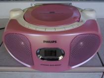 Radio cd philips az102c,boombox roz portabil stereo