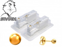 Cercei cu dispozitiv pentru piercing - Biluta 4mm