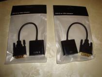 Cablu adaptor convertor DVI-D 24+1 dual link la VGA