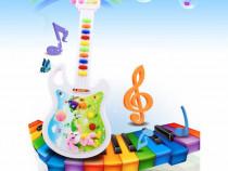 Chitara pe baterii jucarie melodii pentru copii