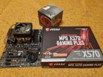 Placa de baza MSI X570 Gaming Plus, Procesor AMD Ryzen 3700X