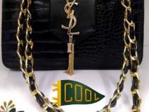 Geanta Ysl model nou,logo auriu, saculet inclus