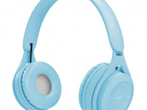Casti wireless MYO8, Handsfree, Cu bluetooth, Albastru C576