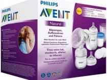 Set pentru alaptare Philips Avent cu pompa de san manuala