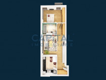 Apartament 2 camere central,finisat,mobilat/utilat,parcare s