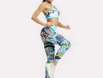 Colanti Fitness Dama YF 006 Albastru M
