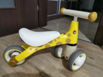 Bicicleta fara pedale ecotoys - galben
