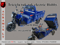 Triciclu electric tuk tuk nou Hobby