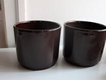 Ghivece ceramice, diametru 16 x 14 cm H