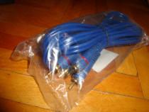 Cablu audio stereo 2 RCA la 2 RCA lungime 3m